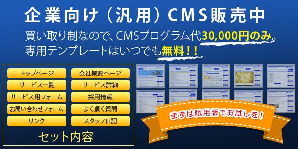 企業向けCMS販売